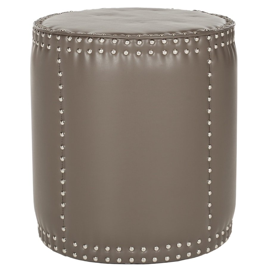 Safavieh Paula Casual Clay Faux Leather Round Ottoman