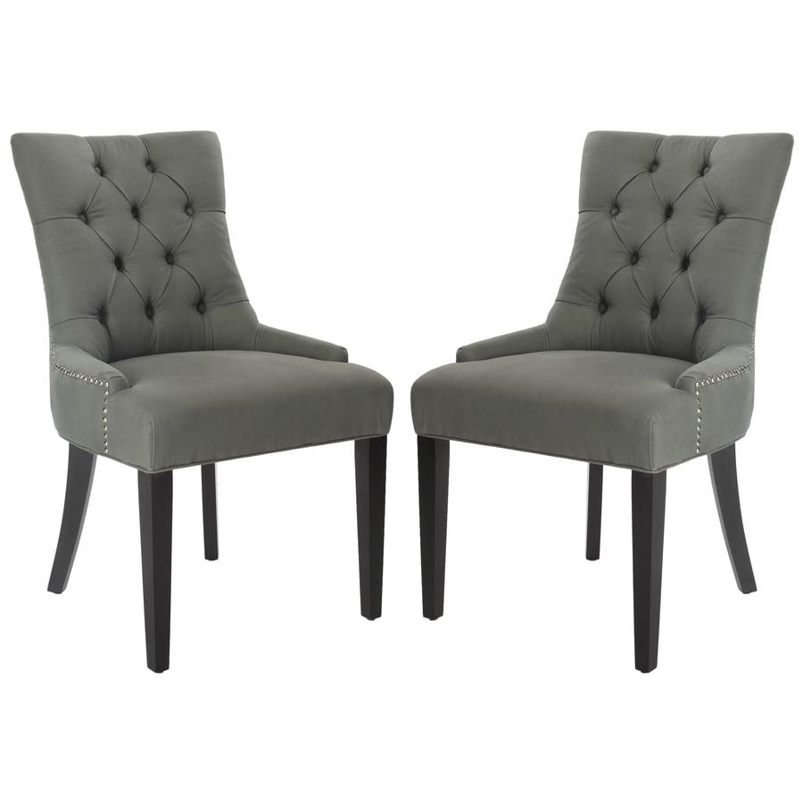 Safavieh Set of 2 Mercer Green Side Chairs