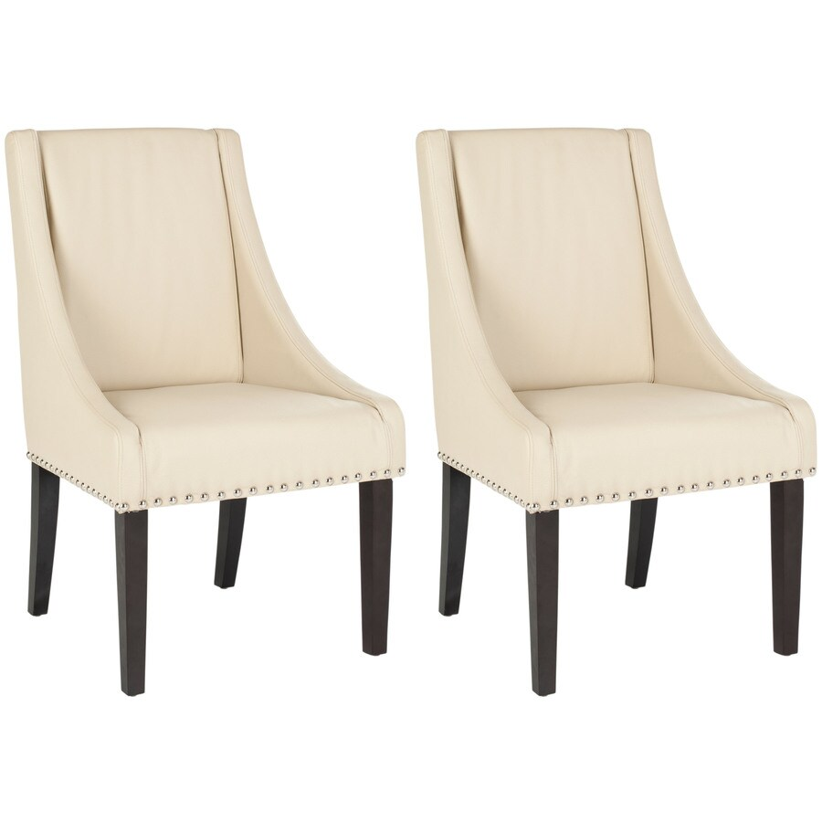 Safavieh Set of 2 Mercer Cream Side Chairs