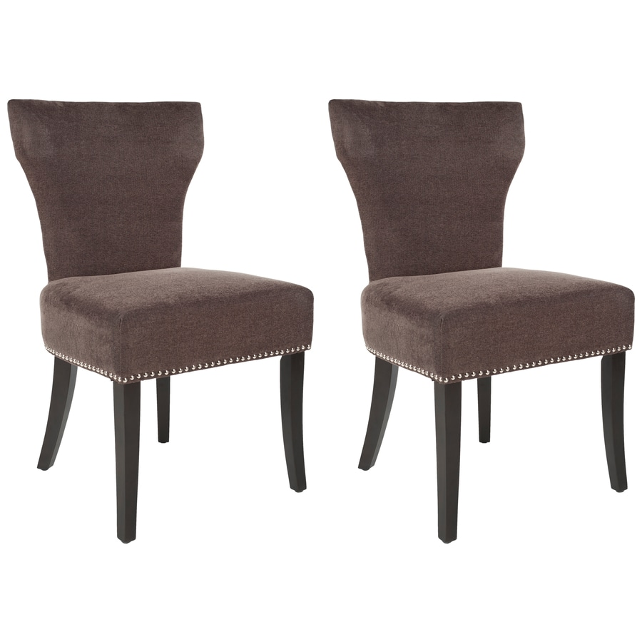 Safavieh Set of 2 Mercer Brown Side Chairs