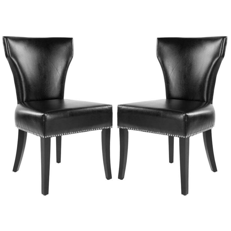 Safavieh Set of 2 Mercer Black Side Chairs