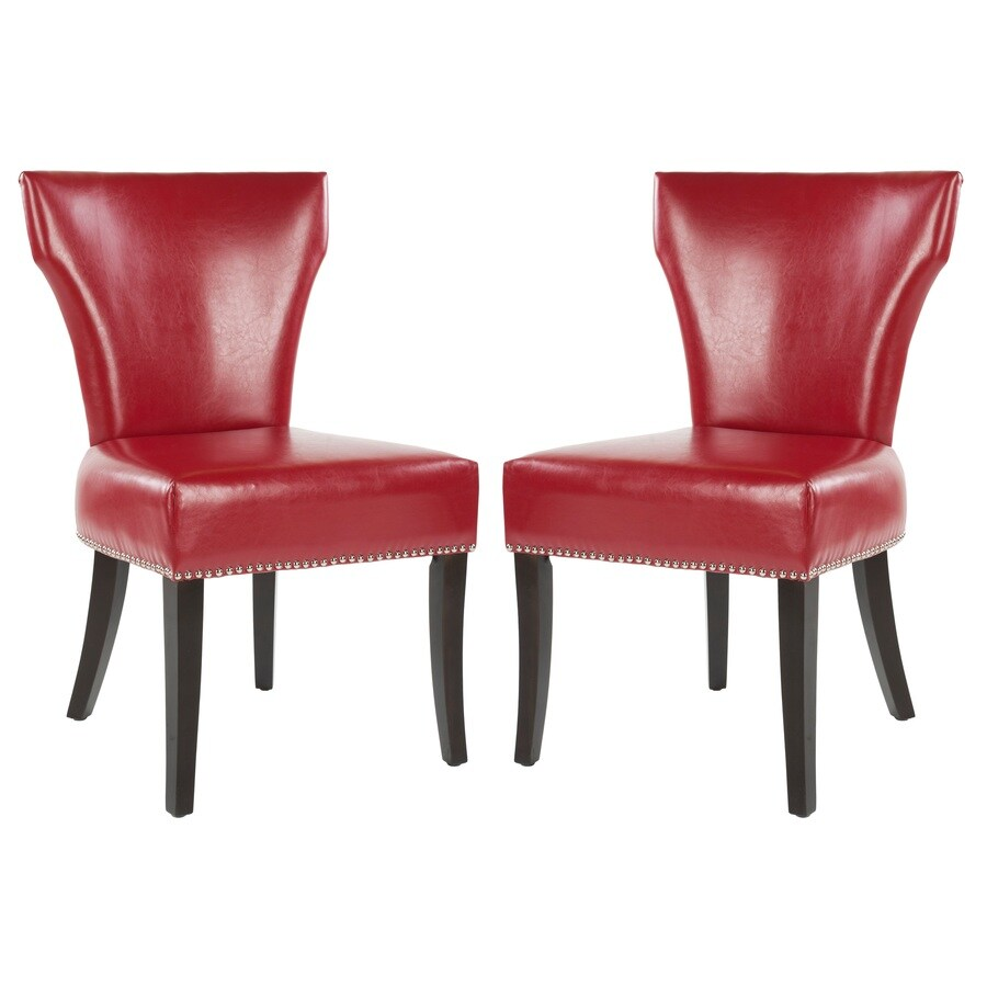 Safavieh Set of 2 Mercer Red Side Chairs