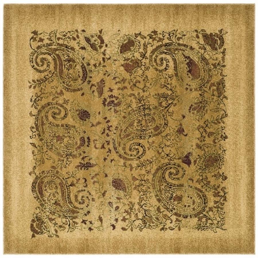 Safavieh Lyndhurst Paisley Life Beige Square Indoor Area Rug (Common: 10 x 10; Actual: 10-ft W x 10-ft L)