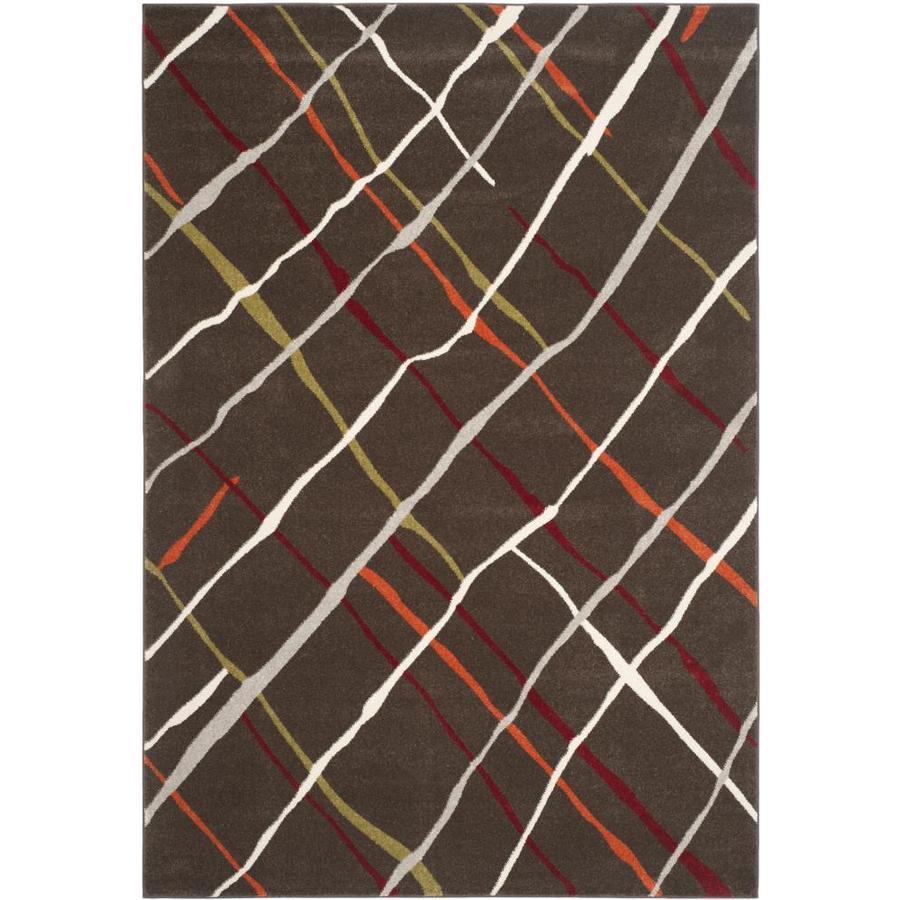 Safavieh Porcello Crosshatch Brown/Multi Rectangular Indoor Machine-made Area Rug (Common: 8 x 11; Actual: 8-ft W x 11.167-ft L)