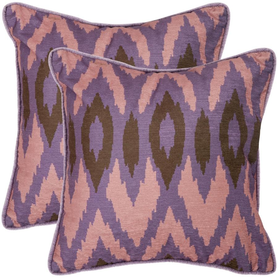 Safavieh Easton 2-Piece 18-in W x 18-in L Lavender Square Indoor Decorative Pillow