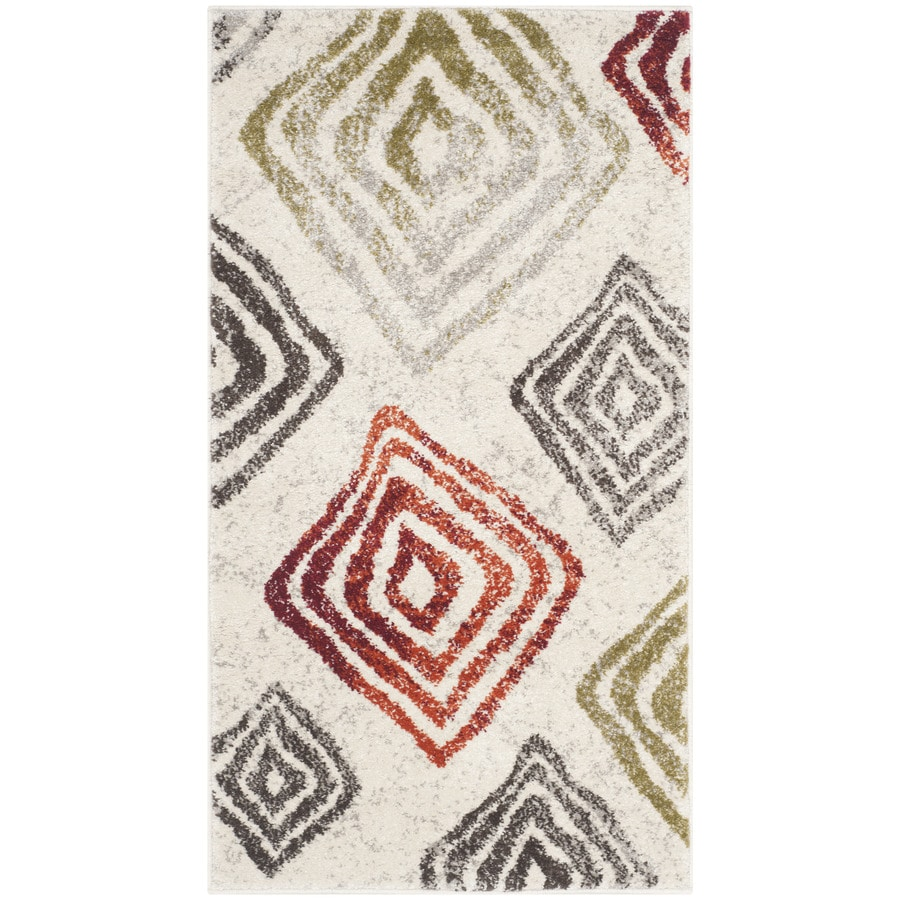 Safavieh Porcello Hive Ivory/Green Indoor Throw Rug (Common: 2 x 3; Actual: 2-ft W x 3.6-ft L)