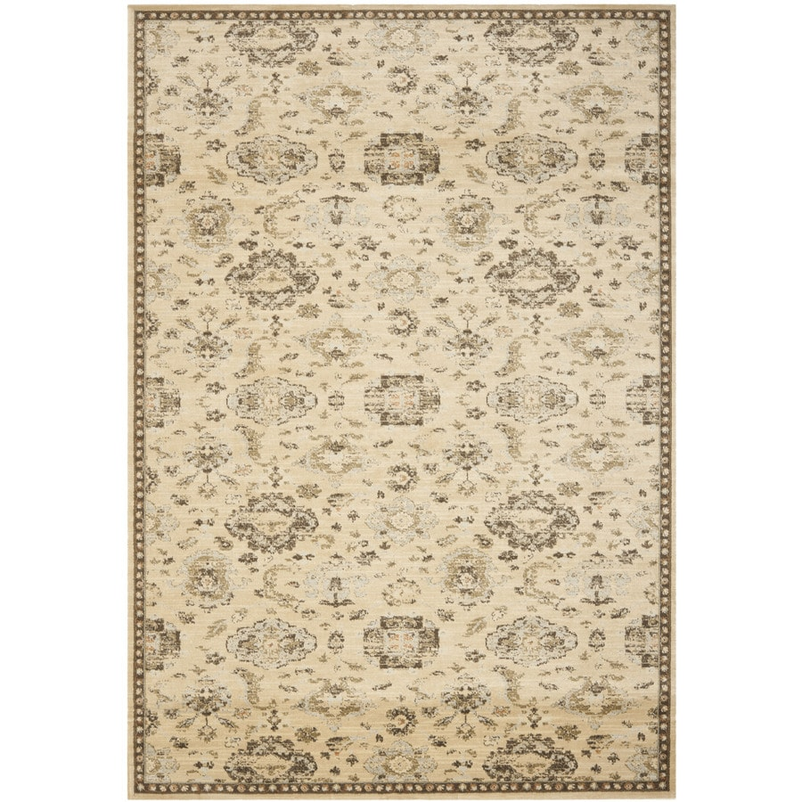 Safavieh Florenteen Ivory and Brown Rectangular Indoor Machine-Made Area Rug (Common: 8 x 11; Actual: 96-in W x 132-in L x 0.58-ft Dia)