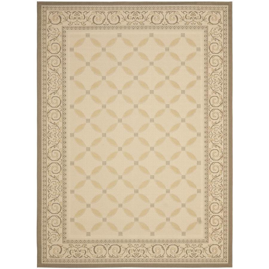 Safavieh Courtyard Beige/Dark Beige Rectangular Indoor/Outdoor Machine-Made Coastal Area Rug (Common: 9 x 12; Actual: 9-ft W x 12-ft L)