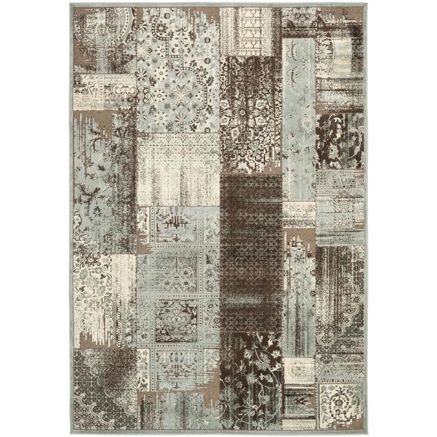 Safavieh Paradise Kerrie Light Blue/Anthracite Indoor Oriental Area Rug (Common: 4 x 6; Actual: 4-ft W x 5.6-ft L)