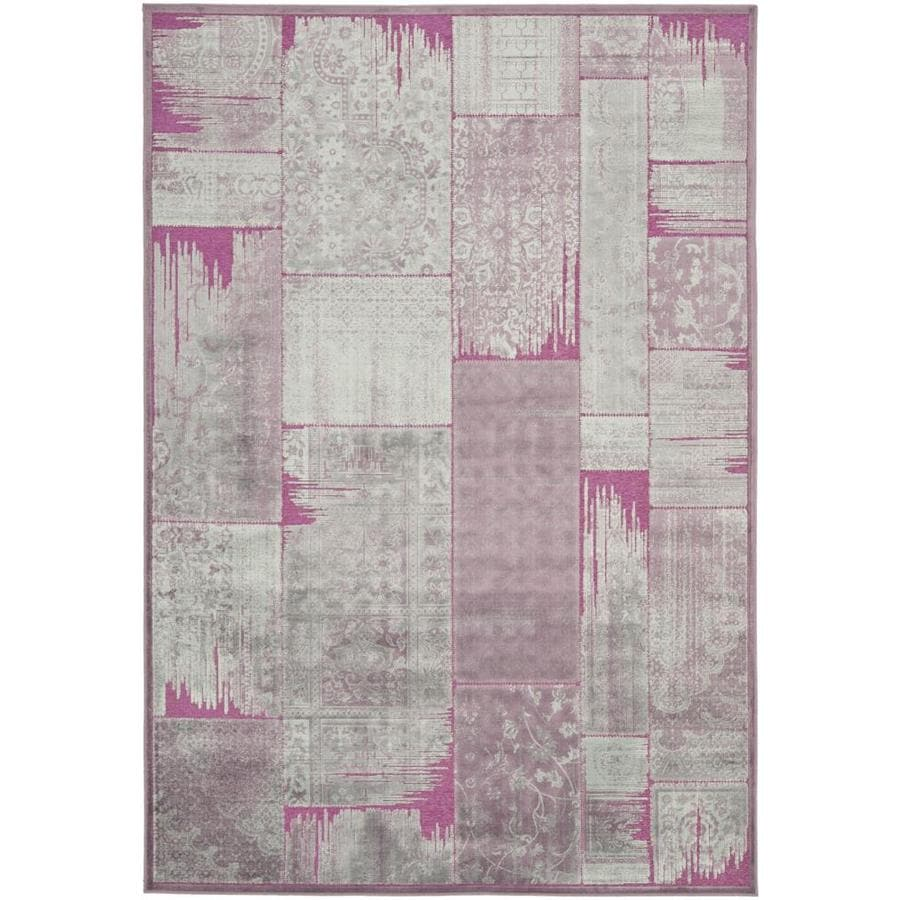 Safavieh Paradise Kerrie Purple/Fuchsia Indoor Oriental Area Rug (Common: 4 x 6; Actual: 4-ft W x 5.6-ft L)