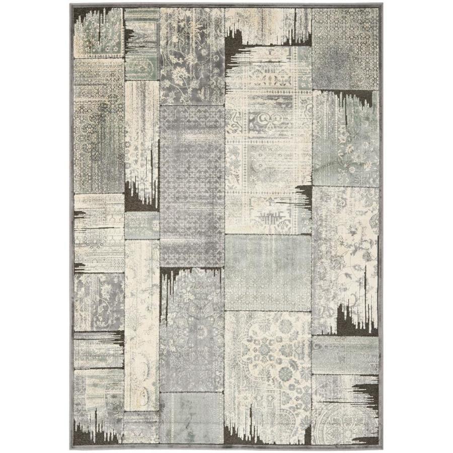 Safavieh Paradise Kerrie Gray/Anthracite Indoor Oriental Area Rug (Common: 8 x 11; Actual: 8-ft W x 11.2-ft L)