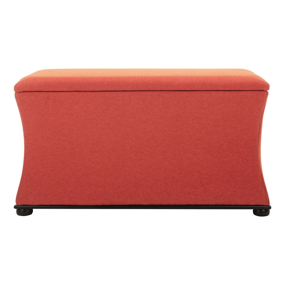 Merveilleux Safavieh Aroura Casual Orange Storage Bench