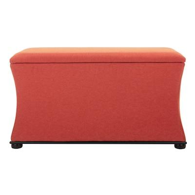 Superb Safavieh Aroura Casual Orange Storage Bench At Lowes Com Alphanode Cool Chair Designs And Ideas Alphanodeonline