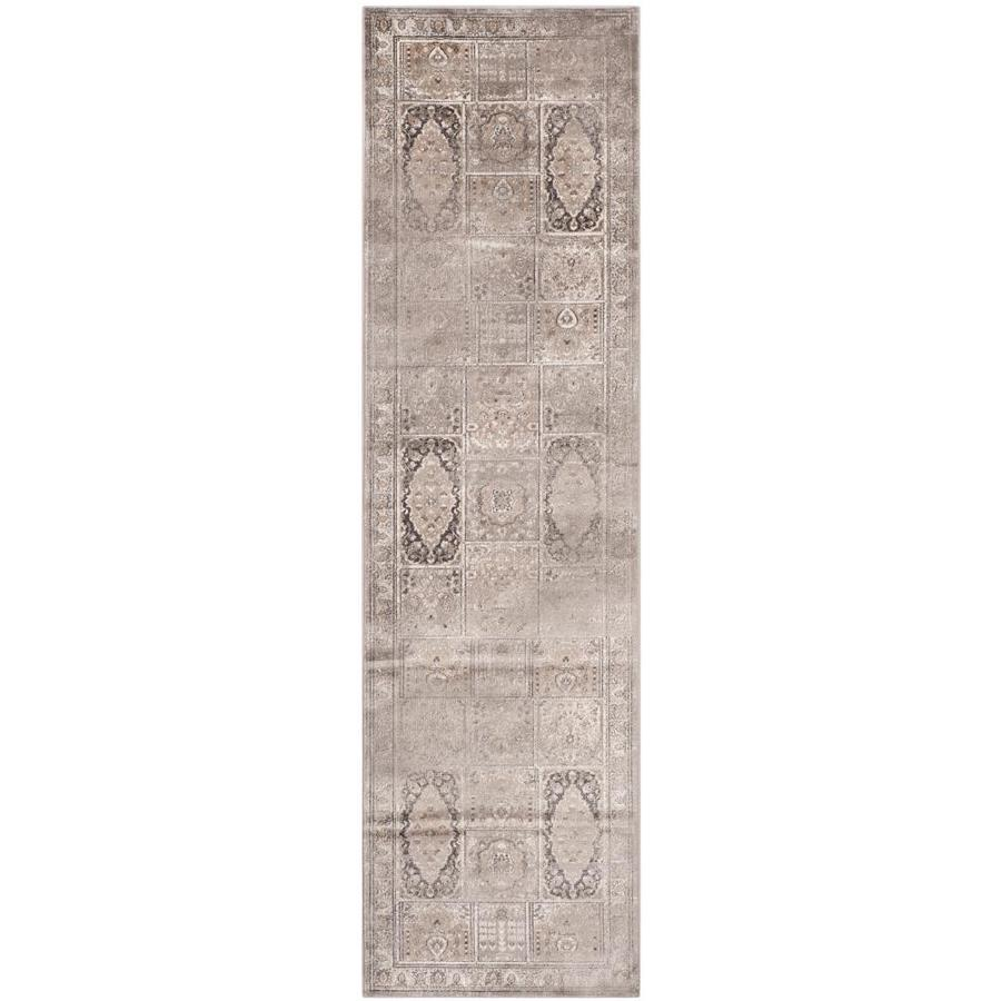 Safavieh Vintage Baktiari Mouse Indoor Distressed Runner (Common: 2 x 8; Actual: 2.2-ft W x 8-ft L)
