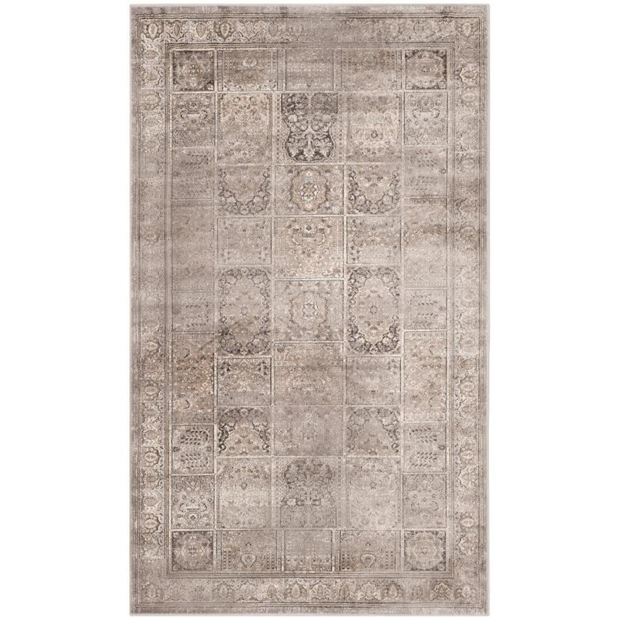 Safavieh Vintage Baktiari Mouse Rectangular Indoor Machine-made Distressed Throw Rug (Common: 3 x 5; Actual: 3.25-ft W x 5.6-ft L)