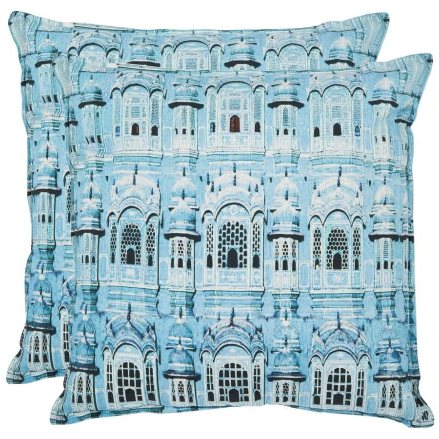 Safavieh Verona 2-Piece 18-in W x 18-in L Turquoise Square Indoor Decorative Pillow