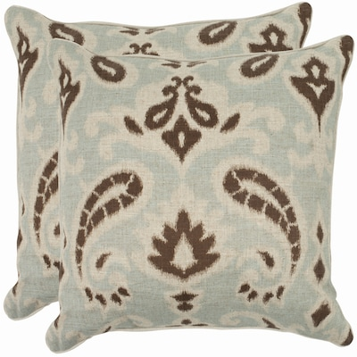 Safavieh Dylan 2 Piece 22 In X 22 In Gray 30 Linen 70 Cotton Square Indoor Decorative Pillow In The Throw Pillows Department At Lowes Com