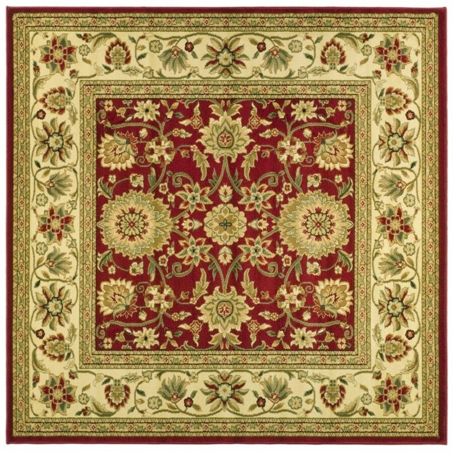 Safavieh Lyndhurst Sarouk Red/Ivory Square Indoor Machine-made Oriental Area Rug (Common: 8 x 8; Actual: 8-ft W x 8-ft L)