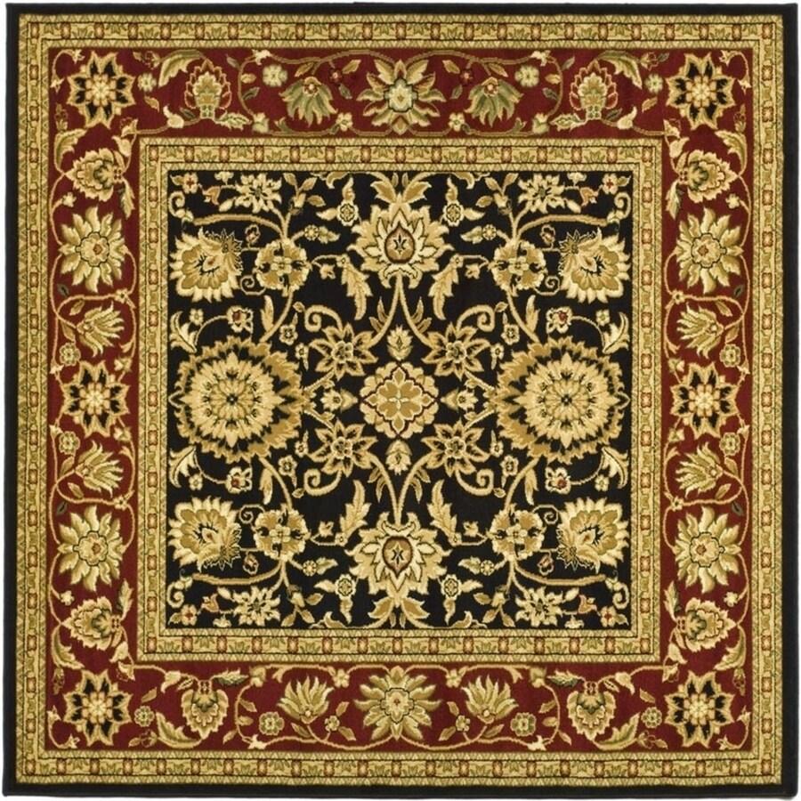 Safavieh Lyndhurst Sarouk Black/Red Square Indoor Oriental Area Rug (Common: 8 x 8; Actual: 8-ft W x 8-ft L)