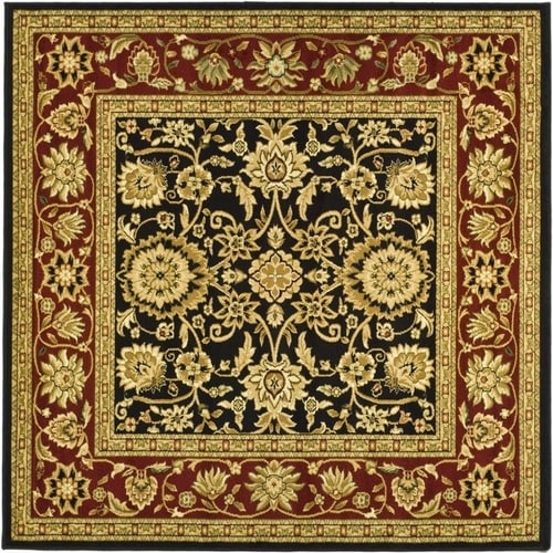 Safavieh Lyndhurst Sarouk Black Red Square Indoor Machine