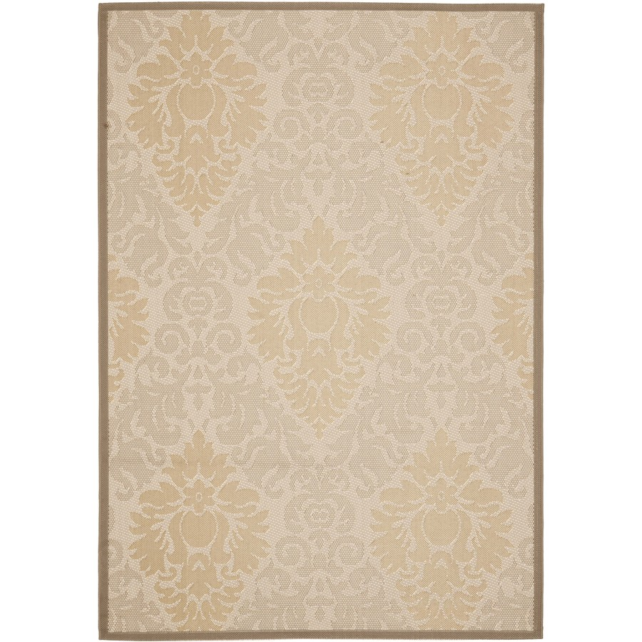 Safavieh Courtyard Rectangular Cream Transitional Indoor/Outdoor Woven Area Rug (Common: 9-ft x 12-ft; Actual: 9-ft x 12-ft)