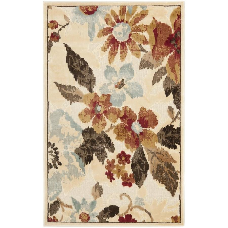 Safavieh Paradise Kendrick Cream Indoor Oriental Throw Rug (Common: 2 x 4; Actual: 2.6-ft W x 4-ft L)