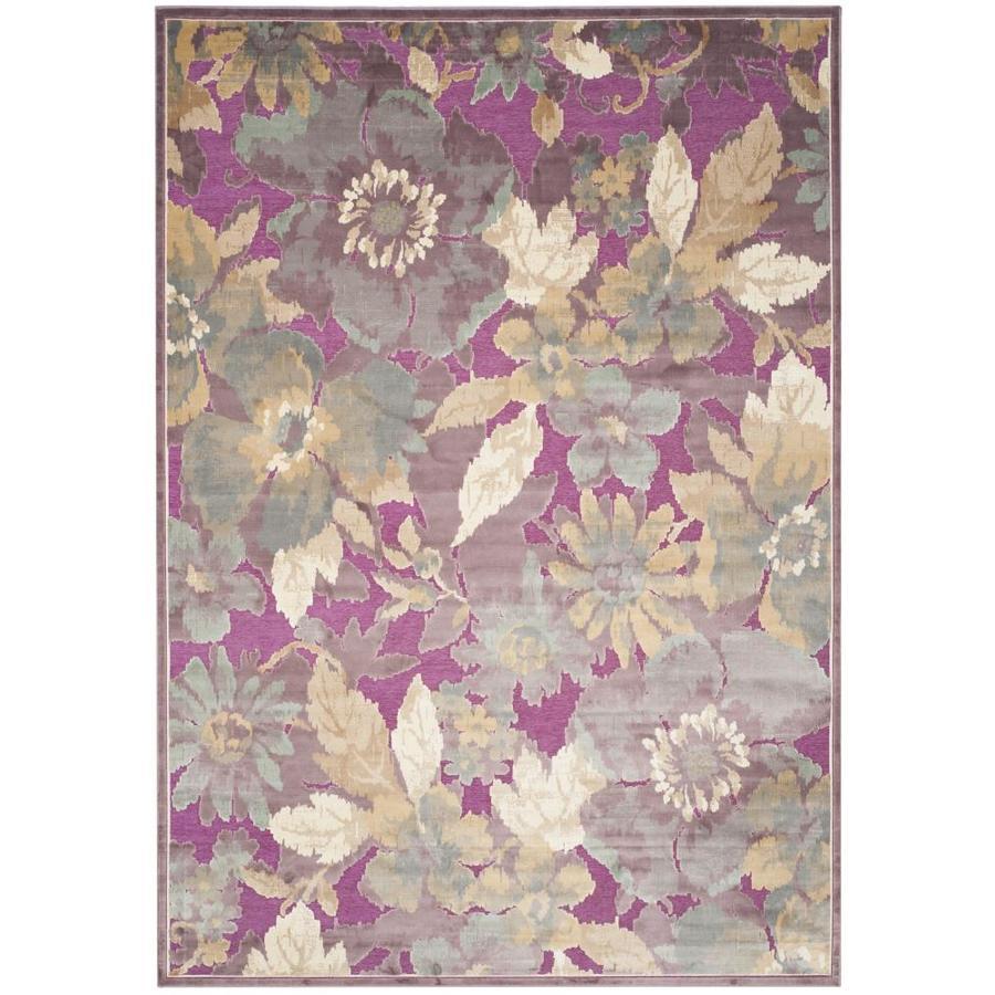 Safavieh Paradise Kendrick Purple/Fuchsia Rectangular Indoor  Oriental Area Rug (Common: 8 x 11; Actual: 8-ft W x 11.2-ft L)
