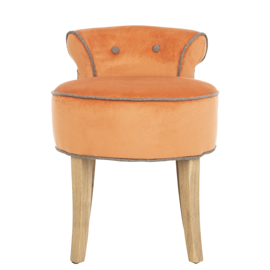 Safavieh 22.8 In H Orange Round Makeup Vanity Stool