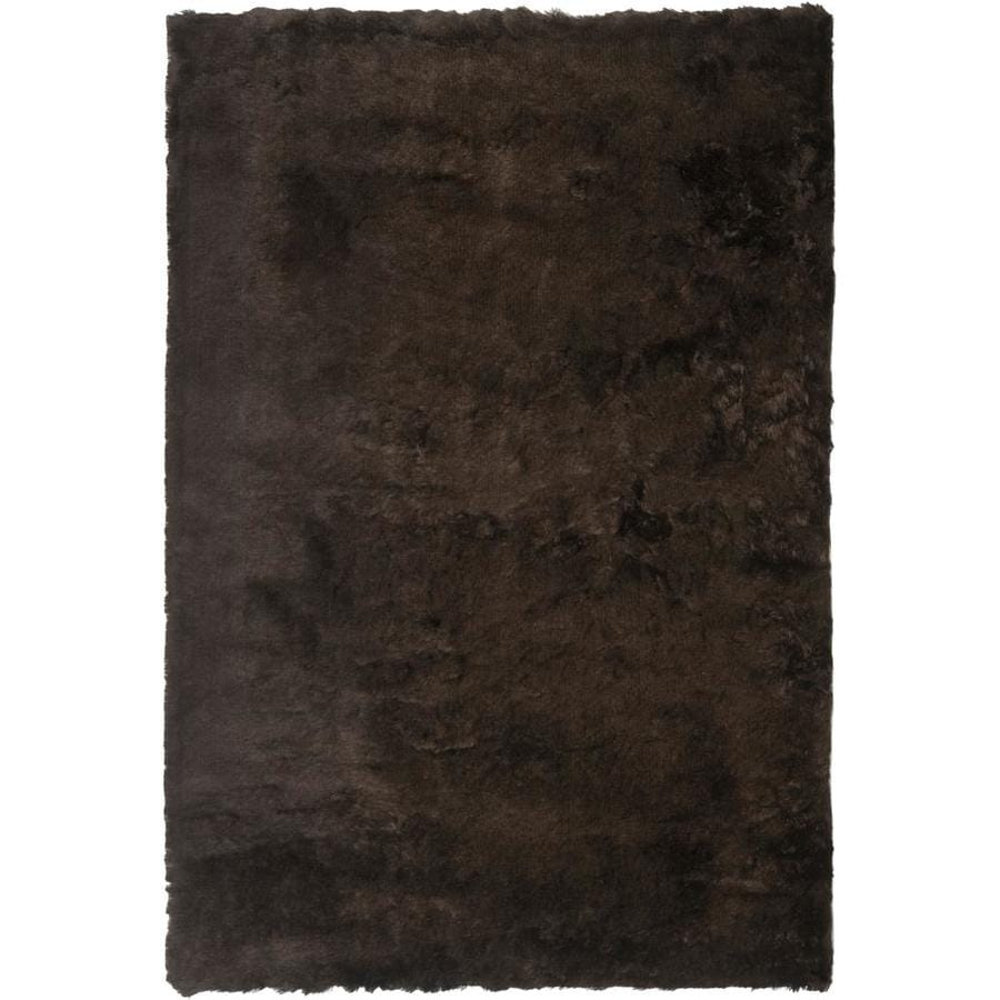 Safavieh Paris Shag Chocolate Indoor Handcrafted Area Rug (Common: 8 x 10; Actual: 8-ft W x 10-ft L)
