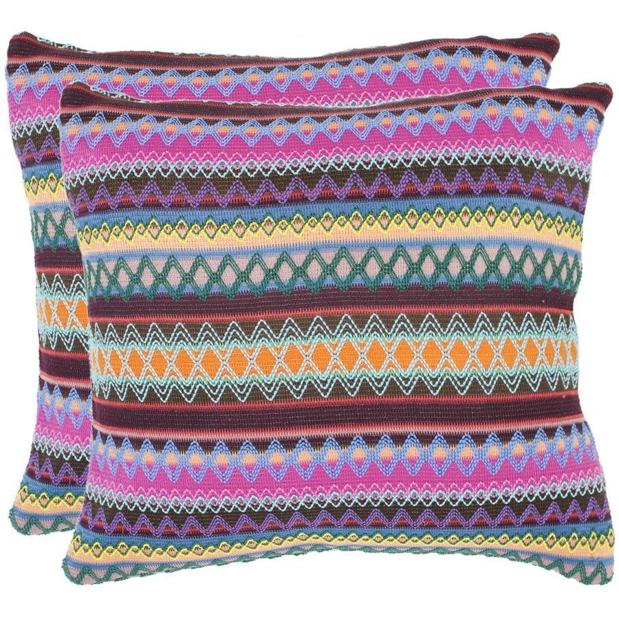 Safavieh Mirabelle 2-Piece 22-in W x 22-in L Multi Square Indoor Decorative Pillow