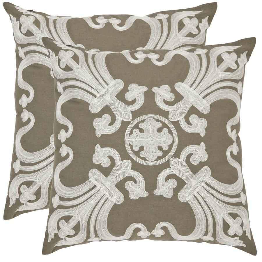 Safavieh Collette 2-Piece 22-in W x 22-in L Olive Square Indoor Decorative Pillow