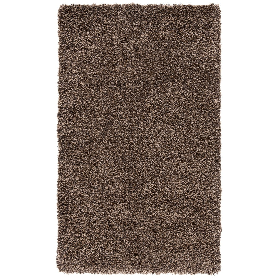 Safavieh California Shag Mushroom Rectangular Indoor Machine-Made Throw Rug (Common: 3 x 5; Actual: 3-ft W x 5-ft L)