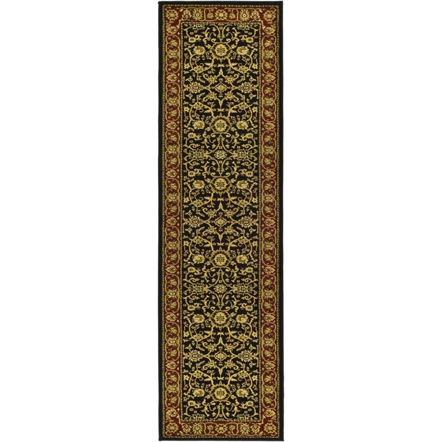 Safavieh Lyndhurst Sarouk Black/Red Indoor Oriental Runner (Common: 2 x 22; Actual: 2.25-ft W x 22-ft L)