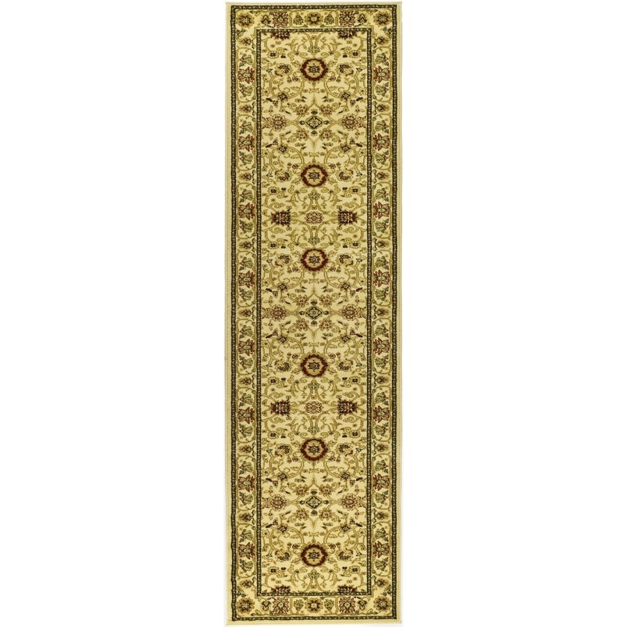 Safavieh Lyndhurst Sarouk Ivory/Ivory Rectangular Indoor Machine-made Oriental Runner (Common: 2 x 22; Actual: 2.25-ft W x 22-ft L)