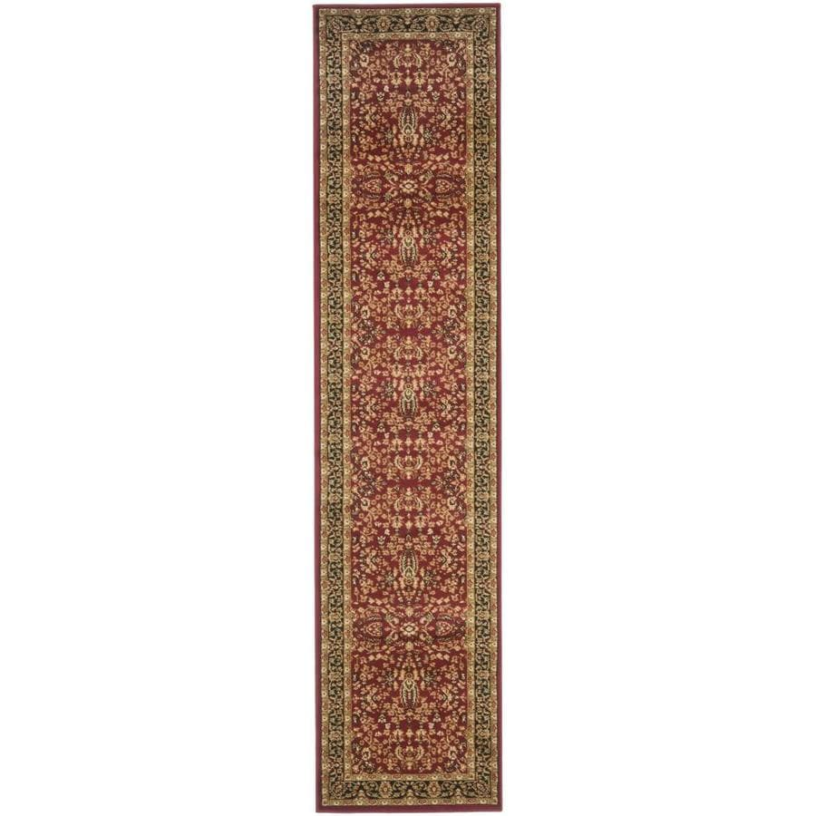 Safavieh Lyndhurst Isphahan Red/Black Indoor Oriental Runner (Common: 2 x 10; Actual: 2.25-ft W x 10-ft L)