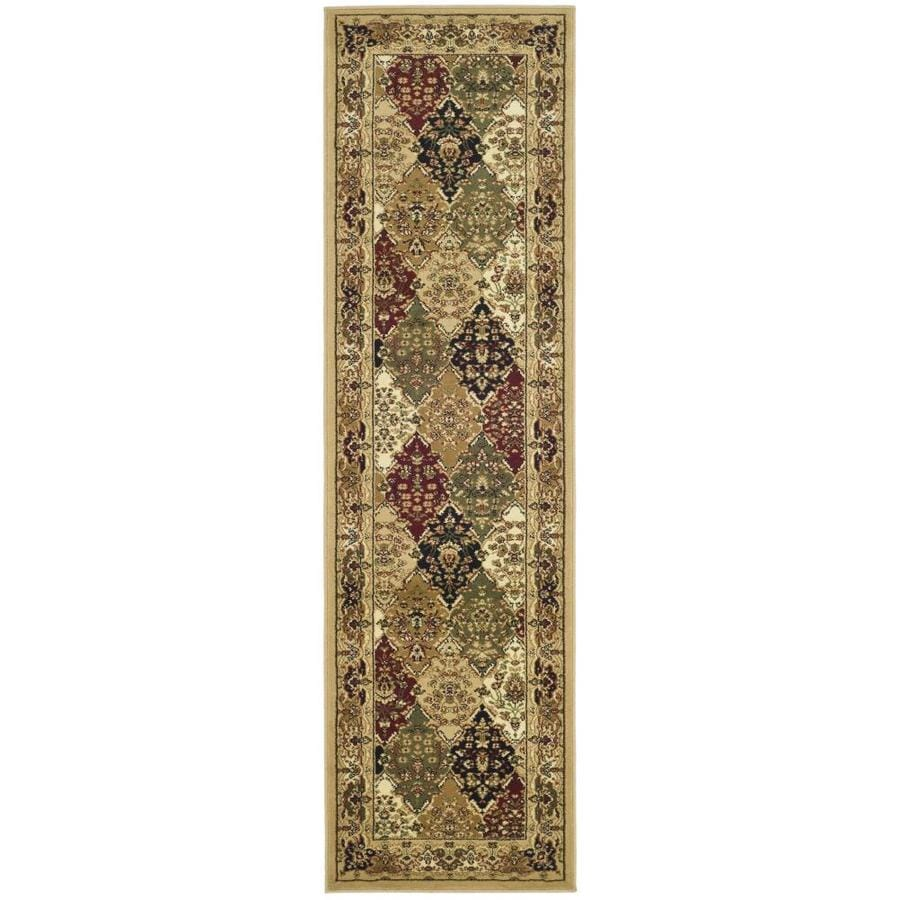 Safavieh Lyndhurst Multi/Black Rectangular Indoor Machine-Made Oriental Runner (Common: 2 x 22; Actual: 2.25-ft W x 22-ft L)