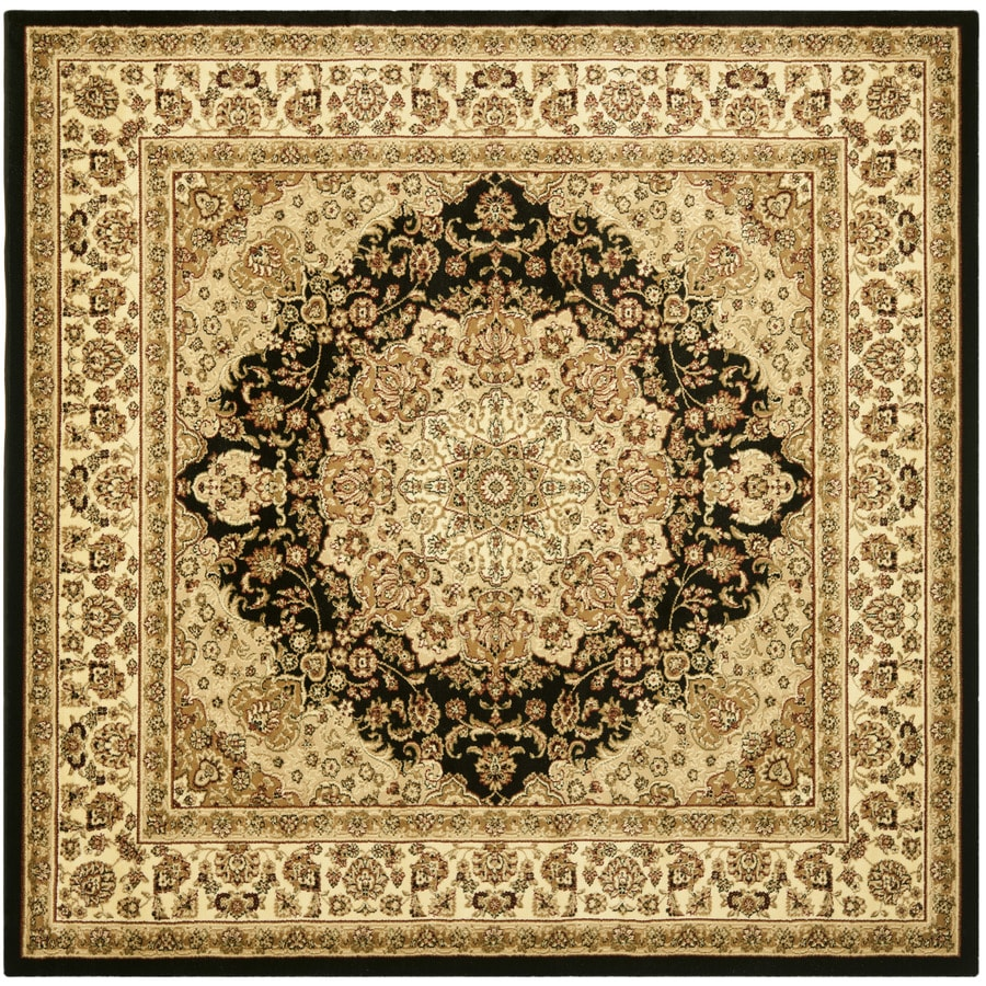 Safavieh Lyndhurst Nain Black/Ivory Square Indoor Oriental Area Rug (Common: 8 x 8; Actual: 8-ft W x 8-ft L)