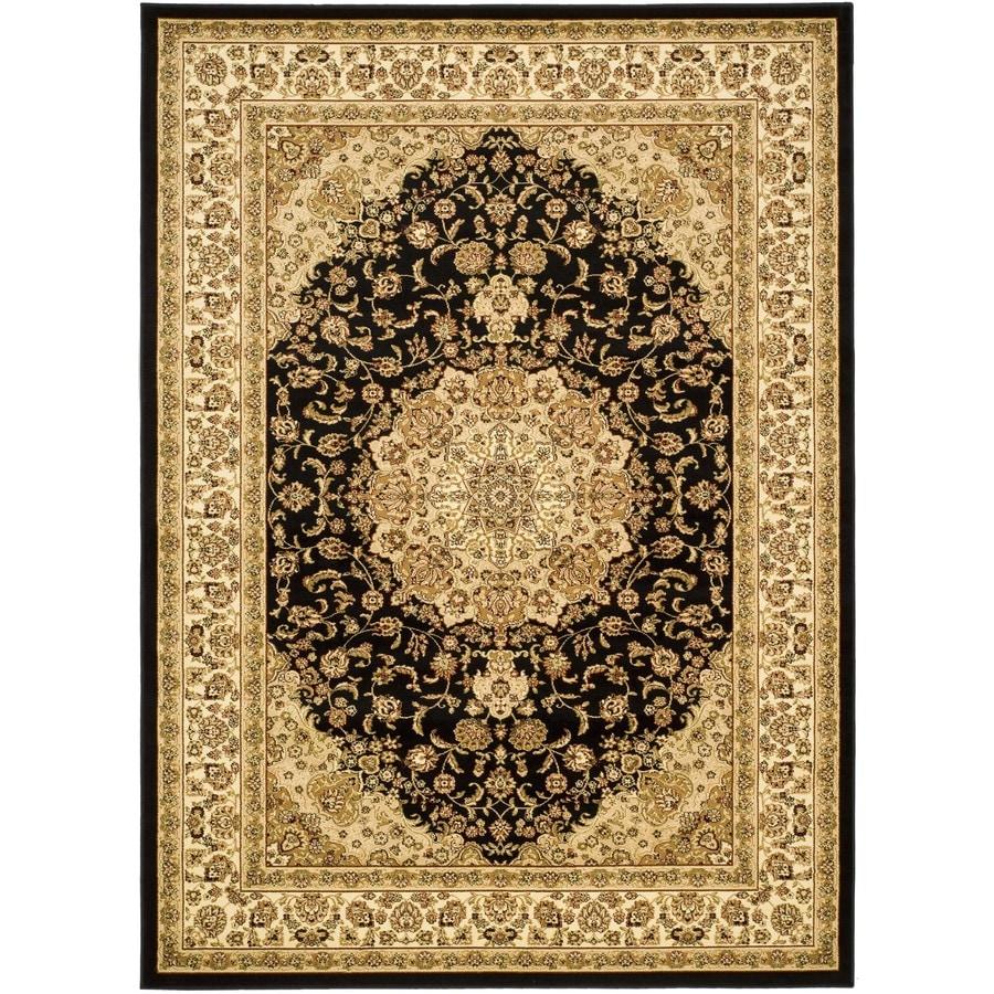 Area Rug Persian 9x12 Oriental Carpet Ivory Wool: Safavieh Lyndhurst Nain Black/Ivory Indoor Oriental Area