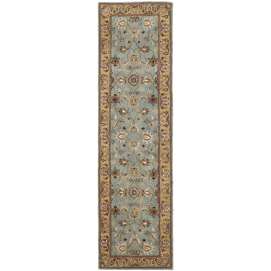 Safavieh Heritage Tekke Blue/Gold Rectangular Indoor Handcrafted Oriental Runner (Common: 2 x 22; Actual: 2.25-ft W x 22-ft L)