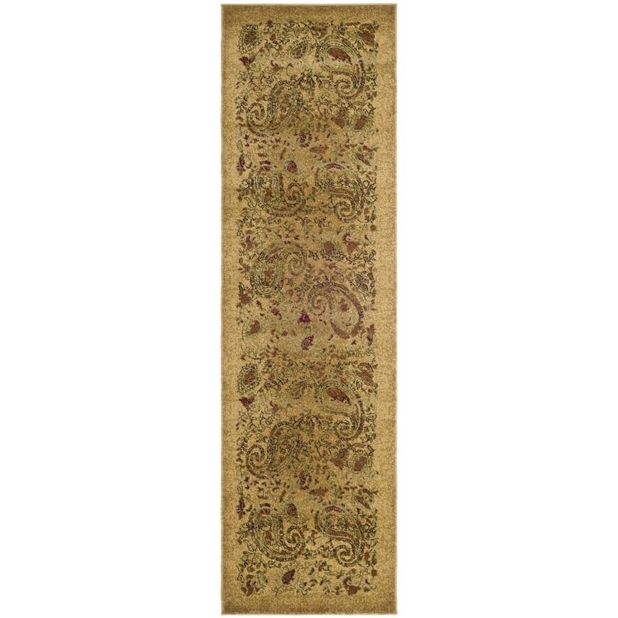Safavieh Lyndhurst Paisley Life Beige/Multi Rectangular Indoor Machine-made Runner (Common: 2 x 10; Actual: 2.25-ft W x 10-ft L)