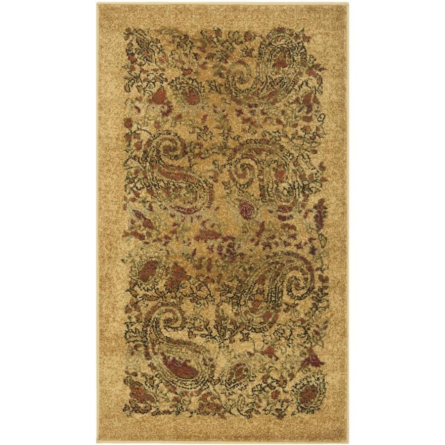 Safavieh Lyndhurst Paisley Life Beige Indoor Throw Rug (Common: 2 x 4; Actual: 2.25-ft W x 4-ft L)