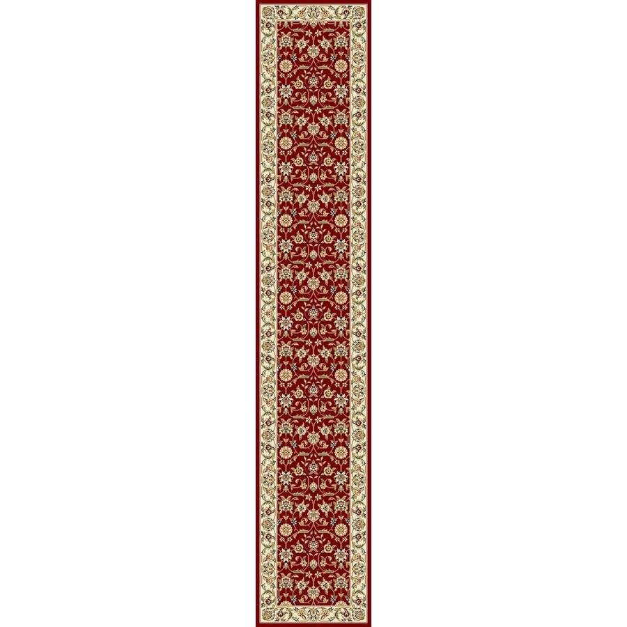 Safavieh Lyndhurst Qum Red/Ivory Rectangular Indoor Machine-made Oriental Runner (Common: 2 x 10; Actual: 2.25-ft W x 10-ft L)