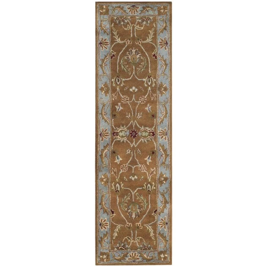Safavieh Heritage Brown and Blue Rectangular Indoor Tufted Runner (Common: 2 x 20; Actual: 27-in W x 240-in L x 1.25-ft Dia)