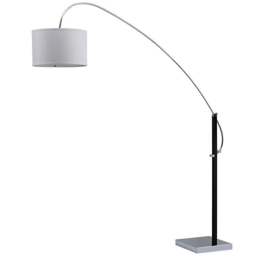 Safavieh Lyra 111 In H Adjustable Arc Floor Lamp Chrome