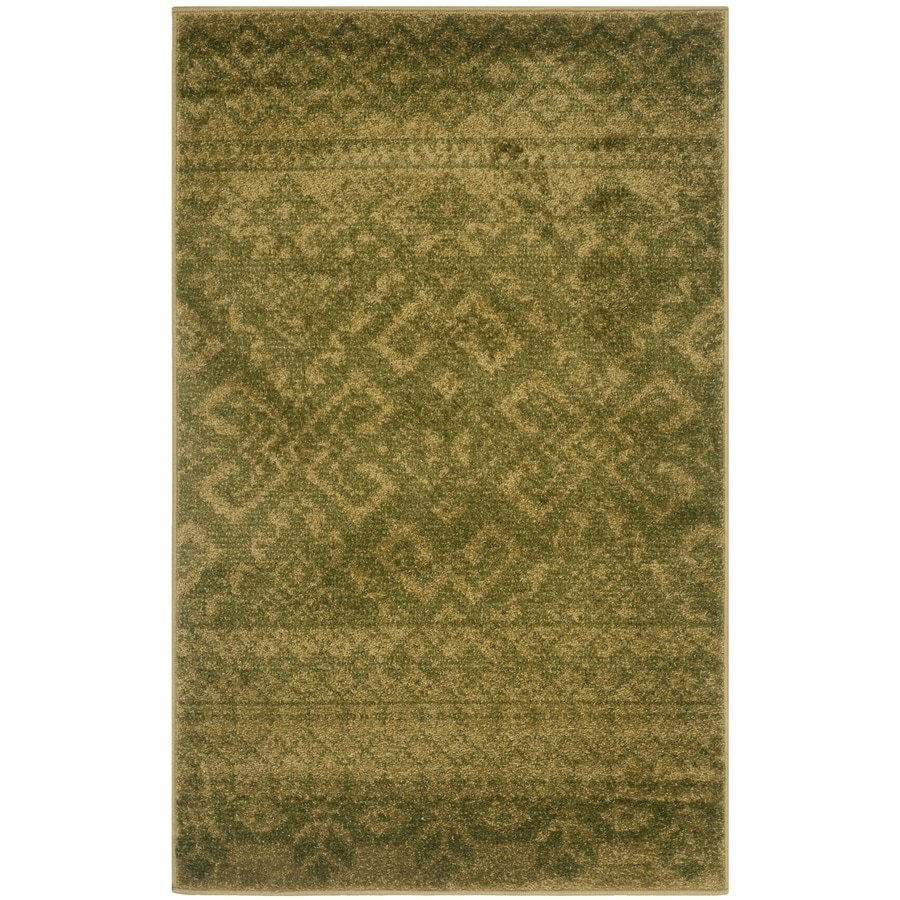 Safavieh Adirondack Green/Dark Green Rectangular Indoor Machine-Made Lodge Throw Rug (Common: 3 x 5; Actual: 3-ft W x 5-ft L)