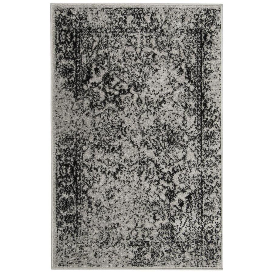 Safavieh Adirondack Kashan Gray/Black Indoor Lodge Throw Rug (Common: 2 x 4; Actual: 2.5-ft W x 4-ft L)