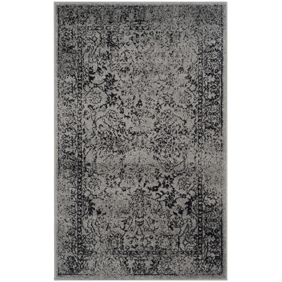 Safavieh Adirondack Kashan Gray/Black Rectangular Indoor Machine-made Lodge Throw Rug (Common: 3 x 5; Actual: 3-ft W x 5-ft L)