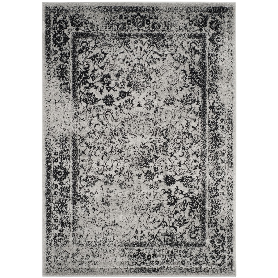 Safavieh Adirondack Gray/Black Rectangular Indoor Machine-Made Lodge Area Rug (Common: 4 x 6; Actual: 4-ft W x 6-ft L)
