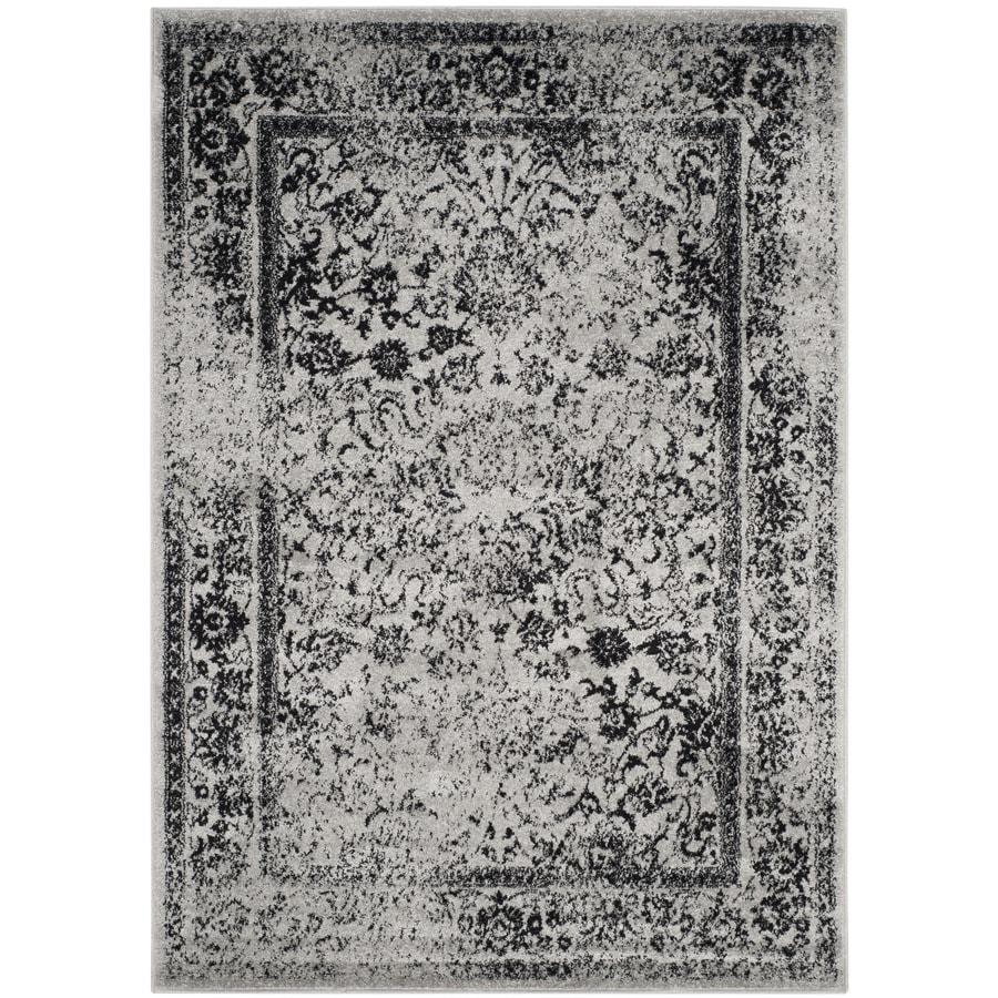 Safavieh Adirondack Gray/Black Rectangular Indoor Machine-Made Lodge Area Rug (Common: 5 x 7; Actual: 5.083-ft W x 7.5-ft L)