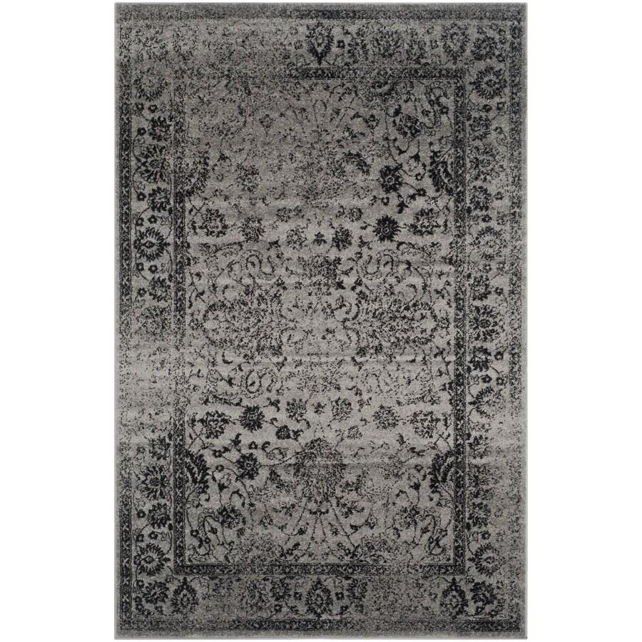 Safavieh Adirondack Gray/Black Rectangular Indoor Machine-Made Lodge Area Rug (Common: 6 x 9; Actual: 6-ft W x 9-ft L)